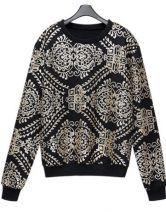 Black Long Sleeve Sequined Embellished Sweatshirt $50