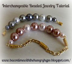 Bacon Time with the Hungry Hungry Hypo: Tutorial Interchangeable Beaded Bracelets, Necklaces, or Anklets