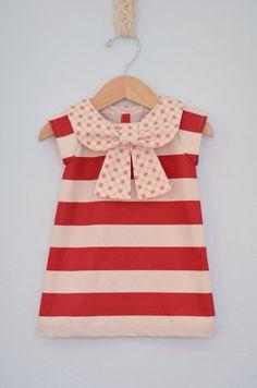 Big Bow Collar Dress by EmsyandCo on Etsy