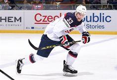Charlie Coyle representing Team USA at the 2015 IIHF world championships
