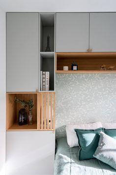 Modern home design – Home Decor Interior Designs Small Master Bedroom, Modern Bedroom, Master Bedrooms, Study Room Design, Wardrobe Design Bedroom, Bedroom Storage, Bed Design, Home Decor Bedroom, Interior Design