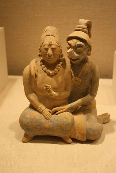 A Mayan Late Classic Ceramic Sculptural Group: Couple with Anthropomorphic Deity   Flickr - Photo Sharing!
