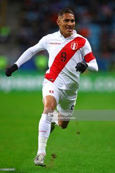 Paolo Guerrero of Peru in action during the Copa America Brazil Neymar Jr, Lionel Messi, Premier League, Peru Football, Sc Internacional, Fifa, Captain Tsubasa, Chile, Semi Final