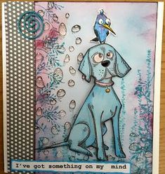 Focus on Papercraft: Combining Crazy Dogs and Bird stamps again