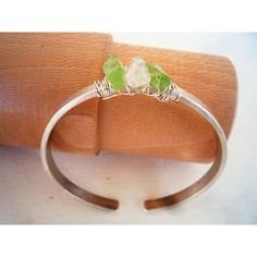 Sterling Silver hammered bangle bracelet, Green gemstones, Rough raw Herkimer and Peridot gemstones bangle bracelet, Modern bangle Herkimer Diamond, Diamond Gemstone, Gemstone Beads, Green Gemstones, Natural Gemstones, Hammered Silver, Sterling Silver, Bangle Bracelets, Bangles