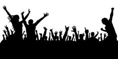 Crowd of people at a concert silhouette. Crowd of people at a concert silhouette , Silhouette Images, Wedding Invitations, Invites, Royalty Free Photos, Clip Art, Stock Photos, Concert, People Crowd, Illustration