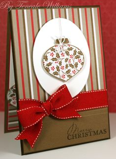 Teneale Williams I could use patterned paper with the ornament punch