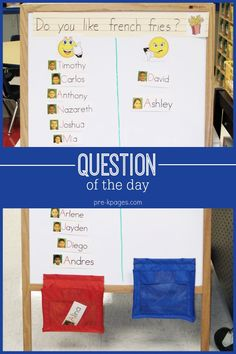 Question of the Day Graphing Activity for Preschool