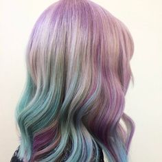 We love the pastel version of geode hair.