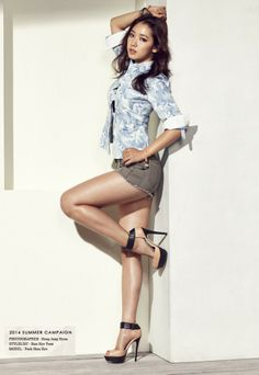 Park Shin Hye and Ahn Jae Hyun for Jambangee Summer 2014 Ad Campaign Beautiful Girl Image, Beautiful Asian Women, Beautiful Legs, Pop Fashion, Girl Fashion, Korean Fashion Summer, Campaign Fashion, Asian Celebrities, Gwangju