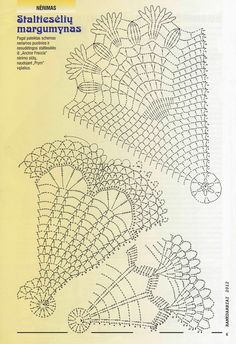 possible angel skirt and wings Crochet Diagram, Crochet Chart, Thread Crochet, Crochet Motif, Crochet Stitches, Knit Crochet, Crochet Snowflake Pattern, Crochet Snowflakes, Doilies Crochet