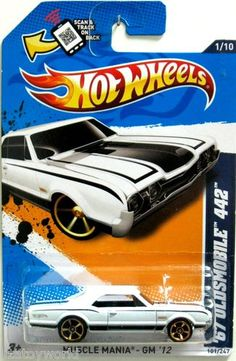1967 Oldsmobile 442 Hot Wheels 2013 Showroom #101/247 White Color Walmart