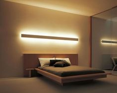 40 Beautiful Lighting Ideas for Modern Bedroom Decorative lighting is an element that cannot be ignored in the plan of contemporary bedroom lighting. Bedroom Lamps Design, Modern Bedroom Design, Contemporary Bedroom, Home Decor Bedroom, Bedroom Ideas, Master Bedroom, Modern Bedroom Lighting, Bed Room Lighting Ideas, Men Bedroom