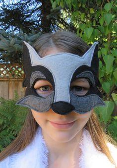 Negro lobo Máscara - máscara de disfraces - disfraz accesorio - perro - Animal bosque del lobo