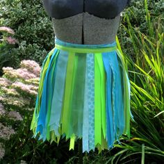 Aqua Lime Tutu Ribbon Skirt by playnwithbeads on Etsy, $20.00