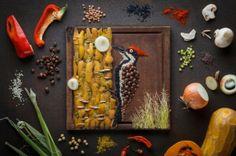 Des Oiseaux plus Vrais que Nature Réalisés en Fruits et Légumes par une Food Artiste !