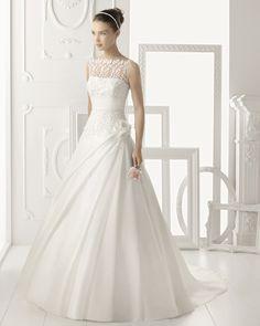 Aire Vintage 2014 Illusion Bateau A Line Wedding Dresses Sweep Train Hand  Made Flower Organza Bridal aa5f92288a9
