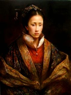 Tang Wei Min - I love the colors used in this. The detail of the lady are amazing.