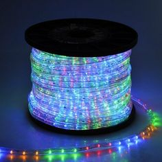 150ft Christmas Lighting LED Rope Light Multi-Color w/ Connector by Generic. $149.95. Crystal Clear PVC Tubing for Durable Use and Brighter. Energy-Saving and Longer-life. LED Color: RGB(Red, Green, Blue,Yellow). Cuttable Every 3 Feet (At Marked Intervals). Easily to Bend into Any Shape. This LED rope light is your must-have decor for holidays and parties. Contains red, green, yellow and blue 4 color LEDs, shines like a rainbow. Versatile, affordable, cuttable and easy to u...