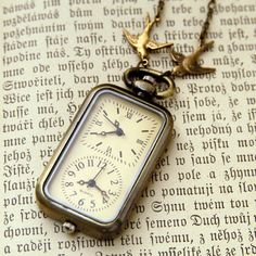 I want this!   Double Watch Necklace by ragtrader on Etsy $34.00. <3