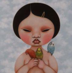 Poh Ling Yeow a Malaysian-born Australian artist, actress and runner-up in MasterChef Australia Art And Illustration, Masterchef Australia, Man Beast, Art Thou, Sculpture, Australian Artists, Portrait Inspiration, Wood Boxes, Rock Art