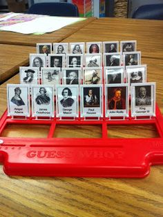 Guess Who! American History. When there is time left in class for fun, make it educational! #games #history
