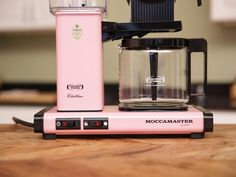 The Technivorm Moccamaster KBG 741 AO coffee maker is available in snazzy colors including pink, plus classic Dutch design.