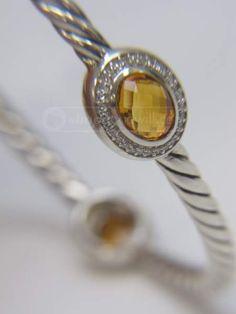 shopgoodwill.com: David Yurman Citrine Diamonds Bangle Bracelet