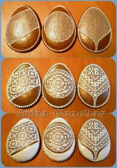 Brodery Galletas Cookies, Easter Cookies, Royal Icing Cookies, Cake Cookies, Gingerbread Icing, Honey Cookies, Cookie Tutorials, Biscuit Cookies, Cookie Desserts