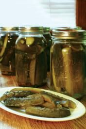 Might try this summer.  The grape leaves are supposed to help keep them crisp. 8 pounds pickling cucumbers 6 tablespoons dill seed, divided 2 tablespoons pickling spice, divided 12 whole black peppercorns, divided 12 garlic cloves, divided 12 grape leaves, divided 6 cups vinegar 6 cups water 3 tablespoons salt