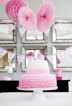 """Gorgeous """"Pretty in Pink"""" first birthday party!"""