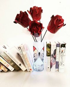 Your place to buy and sell all things handmade Painted Vases, Metal Flowers, Red Riding Hood, Solar Lights, Custom Paint, Giveaways, Household, My Etsy Shop, Valentines