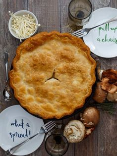 Have a vegetarian hanging around this holiday season? This roasted mushroom pot pie will please even the biggest of meat eaters!