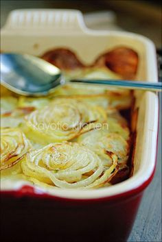 French onion and potato casserole