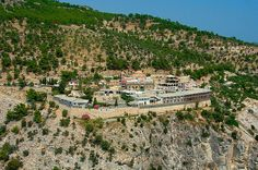 The Archangelos monastery is a popular site for pilgrims and a well known landmark of the island Thasos, Popular Sites, Greece Islands, Where The Heart Is, Paris Skyline, Dolores Park, Greek, Beach, Water