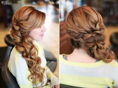 romantic wedding hair long soft braid @Alycia Turpin Turpin Canterbury I could see your hair like this if you didn't want to wear it down