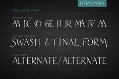 Festa Classica Family - Display Greek Font, Handwritten Type, Open Type, Graphic Design Typography, Republic Of The Congo, Script, Lettering, Video Tutorials, Art
