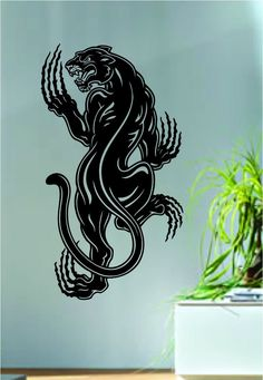 Panther The latest in home decorating. Beautiful wall vinyl decals, that are simple to apply, are a great accent piece for any room, come in an array of colors, and are a cheap alternative to a custom