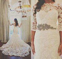 Modest Wedding Dresses For Church Weddings | HappyWedd.com #PinoftheDay #modest #wedding #dresses #church #ChurchWedding