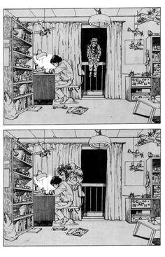 Really amazing work by Katsuhiro Otomo , mostly known for the manga and film Akira , and Steamboy . Comic Manga, Manga Comics, Comic Art, Arte Horror, Horror Art, Art Manga, Anime Art, Character Art, Character Design