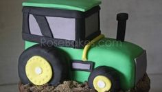 How to Make a Tractor Cake Picture Tutorial Cake Topper Tutorial, Fondant Tutorial, Cake Toppers, Tractor Cakes, Tractor Birthday Cakes, Cake Decorating Tutorials, Decorating Ideas, Fondant Decorations, Cake Pictures