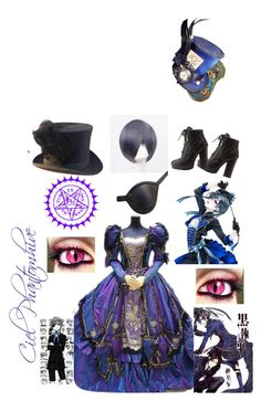 """""""Ciel Phantomhive"""" by danielatapia134 on Polyvore featuring Charlotte Russe, Ciel, Coshome and Masquerade"""