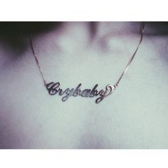 Crybaby Nameplate Necklace - Accessories