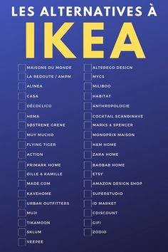 The list of decorative and alternative furniture stores from IKEA # deco Article Gallery Ideas]