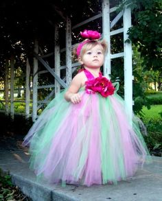 Flower Fairy tutu Dress by CHICLILLOVEBUGS on Etsy, $44.99