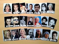 Photos in of tons of famous people, a decent amount who are Spanish speakers.  They are printable and good quality.  Lots of possibilities!!