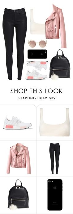 """""""I GOT THESE NEW ADIDAS!"""" by direction-of-the-summer ❤ liked on Polyvore featuring adidas Originals, Yeezy by Kanye West, BP., MANGO, adidas and nmd"""
