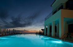 Jumeirah Port Soller Hotel & Spa - Infinity Pool night shot