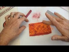 Polymer Clay Veneer Using Chalk Pastel and Lace ~ Polymer Clay Tutorials
