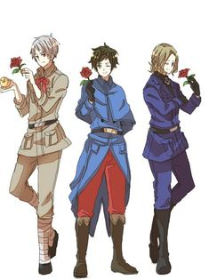 BTT costume change Hetalia Prussia, Spain & France... 0////0 OMG they look good in different close 0.o